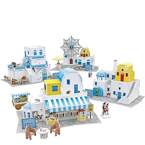 (CubicFun 3D Puzzles for Greece Cityscapes Architectural Building Model Kits, 165 Pieces, W3188h )