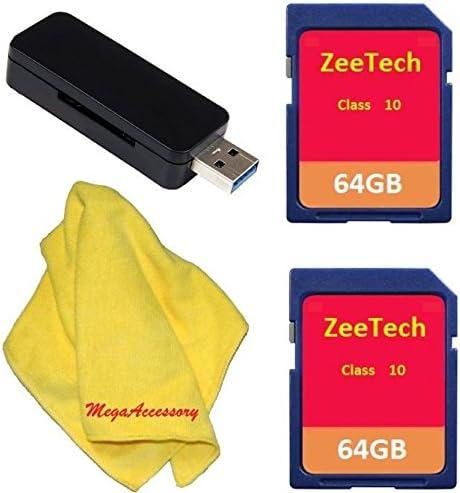7D 6D Reader for Canon EOS 60D 7D MARK II and 5D MARK III DSLR Cameras ZeeTech 2pcs 64GB Memory Card