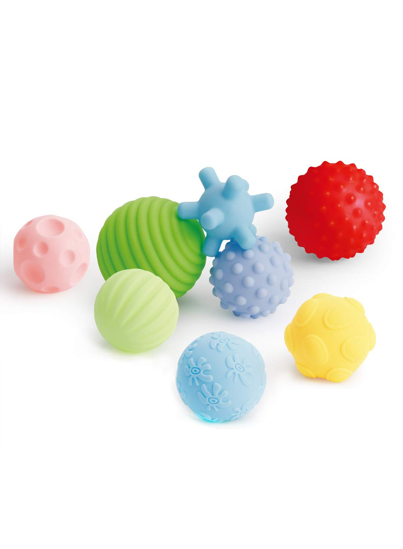 6 Textured Sensory Multi balls Set Baby Kids Educational Fun Sound Toys Activity