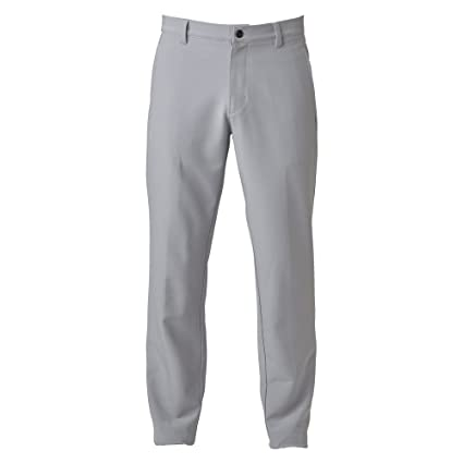 cd7573f88ed9 adidas Golf 2017 Ultimate 3-Stripe Trousers Stretch Mens Performance Pant Tapered  Leg Mid Grey
