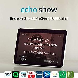 Echo Show (2. Gen.), Schwarz + Philips Hue Lampe