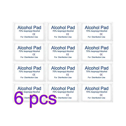Exceart 600pcs Alcohol Pads Prep Wipes Medical Cleaning Swabs Disposable Disinfectant Cotton Pad Outdoor Indoor Hand…