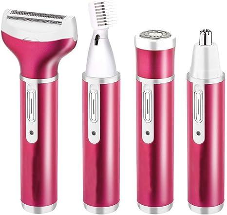 Massage-AED Depiladora eléctrica para Mujeres 4 en 1 afeitadora ...