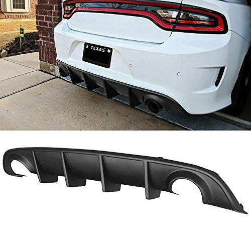(Rear Lip Bumper Valance Diffuser PP for 15-19 Dodge Charger SRT OE Style)