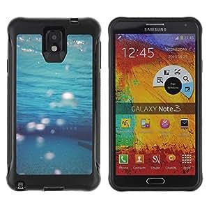 "Pulsar iFace Series Tpu silicona Carcasa Funda Case para SAMSUNG Galaxy Note 3 III / N9000 / N9005 , Teal Mar Submarinismo"""