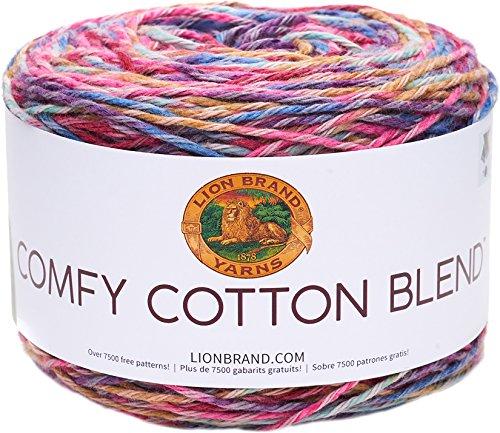 (Lion Brand Yarn 756-700 Comfy Cotton Blend Yarn, Flower Garden)