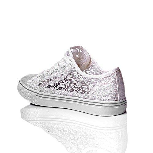 Zapato Zapato De Blanco Encaje De x5YqEvnd