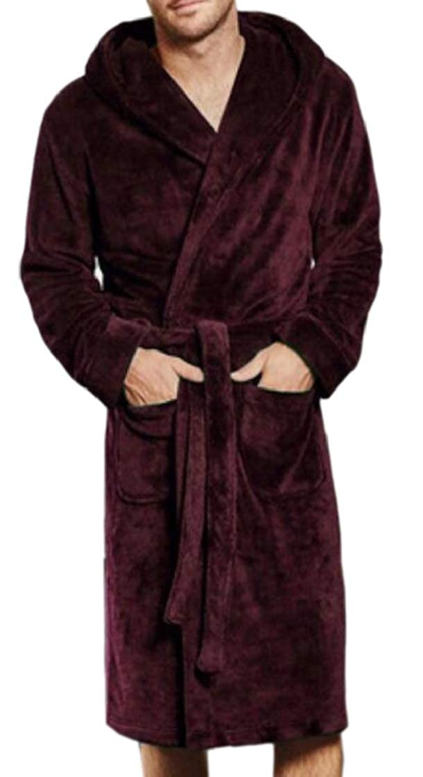 Mens Robe Soft Plus-Size Evening Solid Homewear