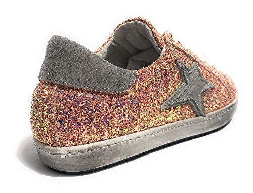 Tony Donna Wild Glitter Sneaker Ds18tw30 Rosa Pelle Stella Suede Scarpe nqv1Bnx6