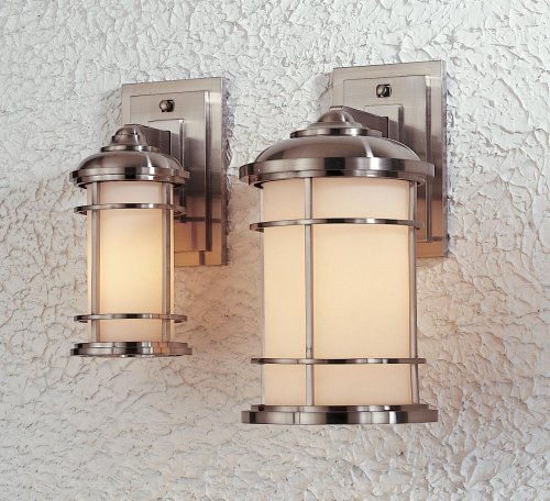 Murray Feiss OL2200BS Wall Mount Lantern 1 Bulb Brushed Steel (Lighthouse Brass Sconce)