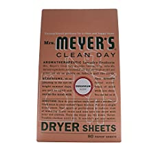 Mrs. Meyer's Clean Day Dryer Sheets are a perfect way to reduce static and add freshness to your clothes. Our dryer sheets contain a vegetable-derived softening agent and essential oils on a paper sheet. Made in the USA.