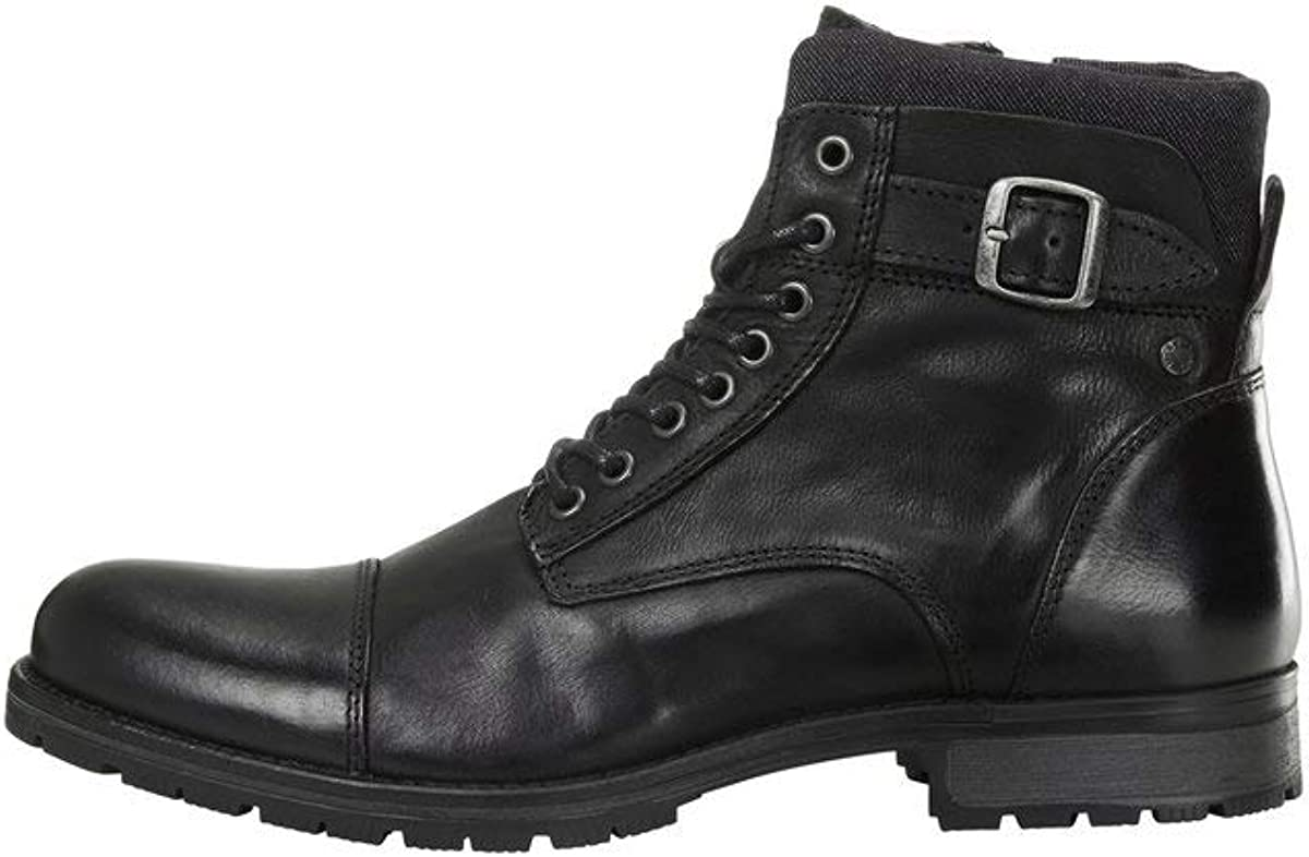 Jack & Jones Jfwalbany Leather Anthracite STS, Chukka Boots para Hombre