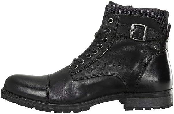TALLA 41 EU. Jack & Jones Jfwalbany Leather Anthracite STS, Chukka Boots Hombre