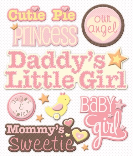 Girl Company Baby - K&Company Baby Girl Names Sticker Medley