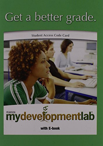 MyDevelopmentLab with Pearson eText - Valuepack Access Card