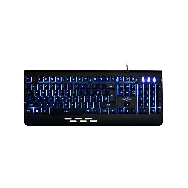 Redgear Blaze 3 colour backlit gaming keyboard with full aluminium body & windows key lock