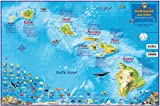 Hawaii Map Poster Hawaiian Islands Adventure Map Laminated Poster