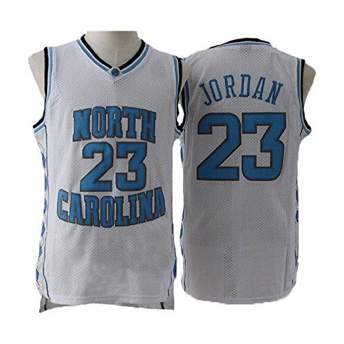- meetziis Men's #23 Basketball Jerseys Retro Jersey White and Blue(S-XXL) (s)