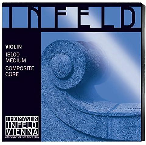 Thomastik-Infeld IB100 Blue Violin Strings, Complete Set, IB100, 4/4 Size, Synthetic Core (Violin Strings For 3 4)