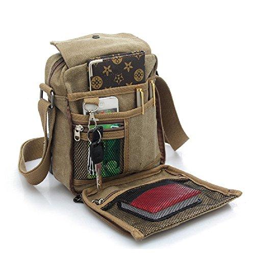 Small Shoulder Bag Travel Purse Casual Canvas Messenger Bags Mens Womens Crossbody Purse ()