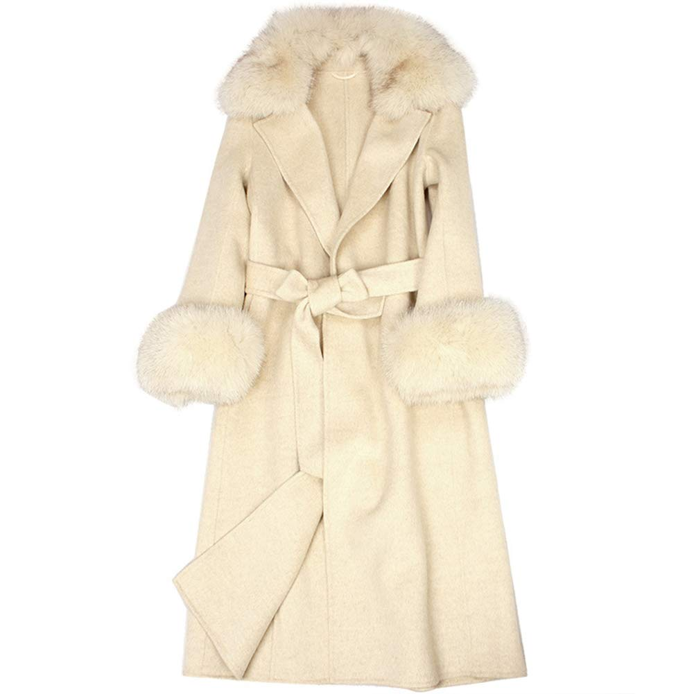 Women's Winter Luxury Coat Jacket Casual Slim Long DoubleFaced Cashmere Wool Coat Fashion Elegant for All Occasions