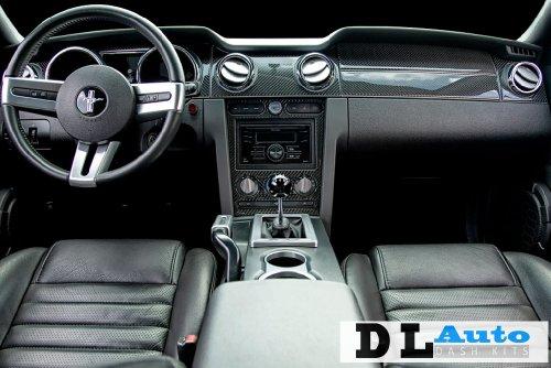 DL Auto Dash Kit Chevrolet Silverado LT 2007 2008 2009 - Full Kit W/ Front Bucket Seats W/ Chrome Inserts - Black