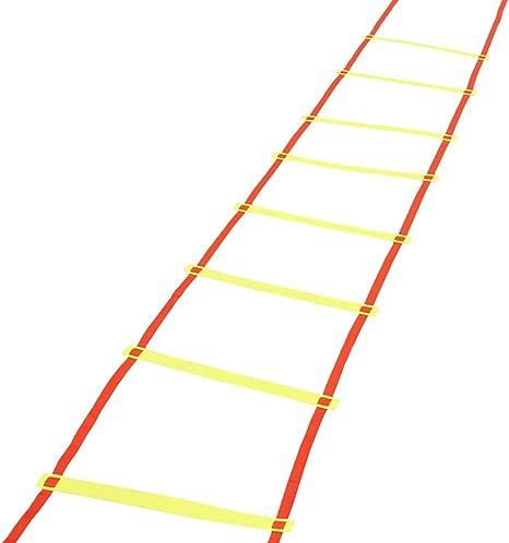 Escalera for agilidad de entrenamiento de la agilidad velocidad Escalera, el entrenamiento con ejercicios de velocidad Escaleras Fútbol Fútbol Boxeo Juego de piernas Deportes velocidad Entrenamiento d: Amazon.es: Deportes y aire libre