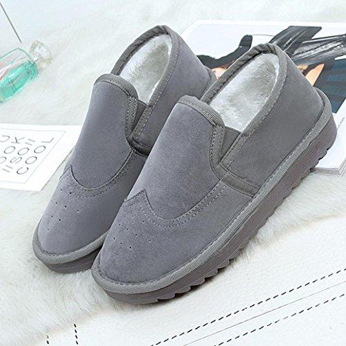 Stiefel Damen Clode® Damen Stiefeletten Winter Warm Snow Schuhe Schnee Stiefel Frauen Boots Grau