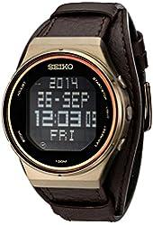 Seiko Men's STP019 Matrix-Digital Digital Display Japanese Quartz Brown Watch