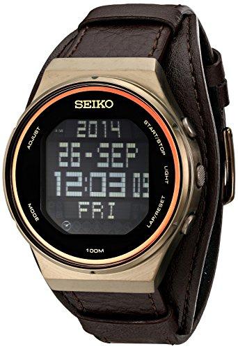 Seiko Mens STP019 Matrix-Digital Digital Display Japanese Quartz Brown Watch
