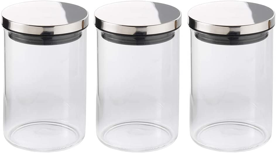 ProCook Glass Storage Jars Set of 3 Medium