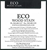 Eco Wood Treatment 1 US Gallon, Long Lasting, Black, Semi-Transparent (1 Pack)
