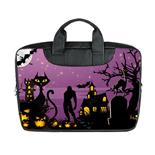[JIUDUIDODO Custom Cool Halloween Evil Jack with Bat Nylon Waterproof Bag Computer Bag Handbag for Laptop 15