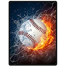 Super Soft Throw Blanket Custom Design Cozy Fleece Blanket (Large) Perfect for Couch Sofa or Bed Beautiful 3D Baseball Printed