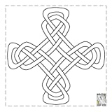 BLOCKS MADE EASY 8.5'' 24 BLOCKS/ROLL CELTIC CROSS #204/24