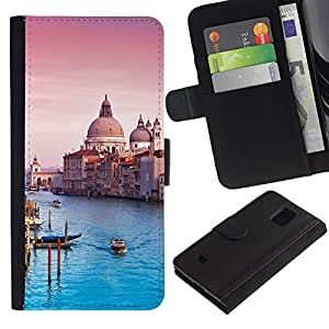 iKiki Tech / Cartera Funda Carcasa - Architecture Venice Cathedral - Samsung Galaxy S5 Mini, SM-G800, NOT S5 REGULAR!