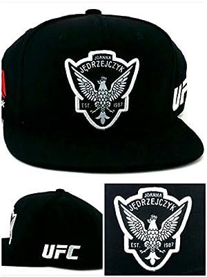 UFC Reebok RBK MMA New Joanna Jedrzejczyk Era Black White Snapback Hat Cap from Reebok