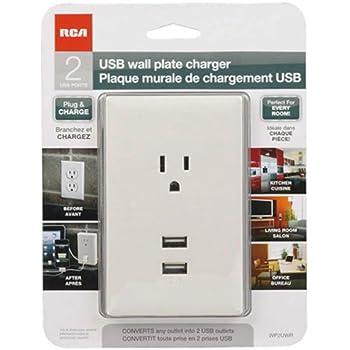 RCA WP2UWR USB Wall Plate