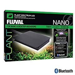 Operated exclusively via the FluvalSmart App on your mobile device, Plant Nano LED is designed to help you grow bigger, more vibrant plants in a small freshwater aquarium.              KEY FEATURES:              Programmable, gradual 2...