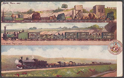 London & North Western Railway mural St Louis Exposition postcard 1904