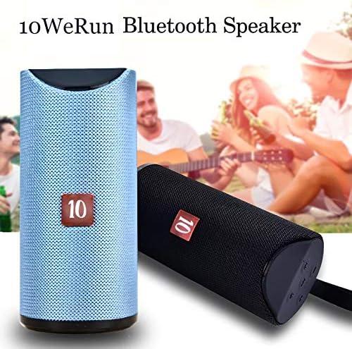10WeRun R10 Portable Bluetooth Speaker Outdoor Loudspeaker Wireless Mini Column 10W Stereo Music Support FM TF Card Bass Box