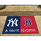 New York Yankees - Boston Red Sox House Divided Rugs 34X45