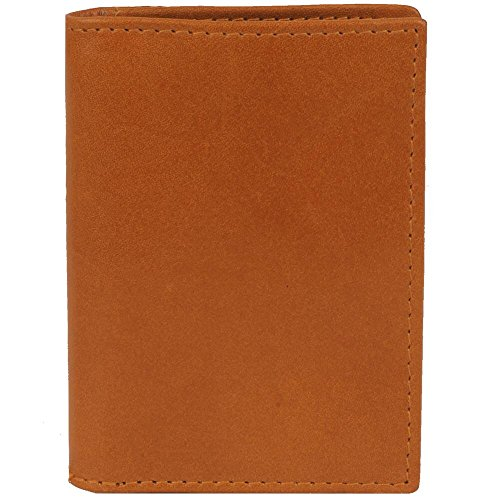 Leather Gusset Card Case (Wilsons Leather Mens Front Pocket Gusset Leather Card Case W/ Rfid Blocking Tan)