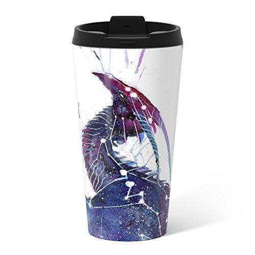 Society6 Galaxy Dragon Metal Travel Mug 15 (Galaxy Travel Mug)