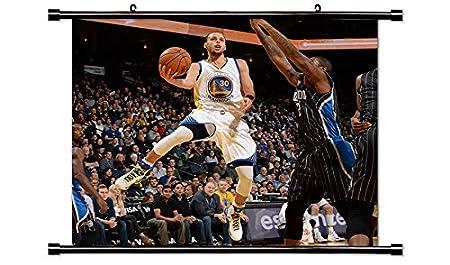 Amarillo Steph liga de baloncesto NBA Golden State Póster de ...