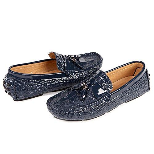 Blue Moda Uomo Oxford Barca Mocassini Driving Casual Mocassini da da Uomo Scarpe Footwear Mocassini Luminosi Shoe On da Deck Slip PBnHwfqS