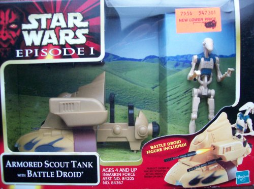 Tank Firing Battle (Star Wars Episode 1: Armored Scout Tank with Battle Droid)