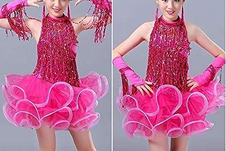 Red Yalulu 6.5 Yards Encryption Sequins Latin Fringe Tassel Trimming Lace DIY Latin Macrame Samba Dance Clothing Curtain Lace Trim