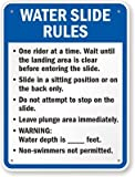 Water Slide Rules Sign, 24'' x 18''