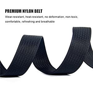 2 Pack: WYuZe Mens Nylon Webbing Belt No Metal Buckle Military Tactical Web Belt